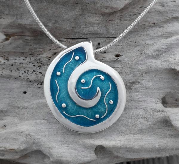 Ammonite Wave Pendant
