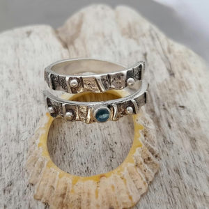 Limpet Shell Wrap Ring with Blue Topaz