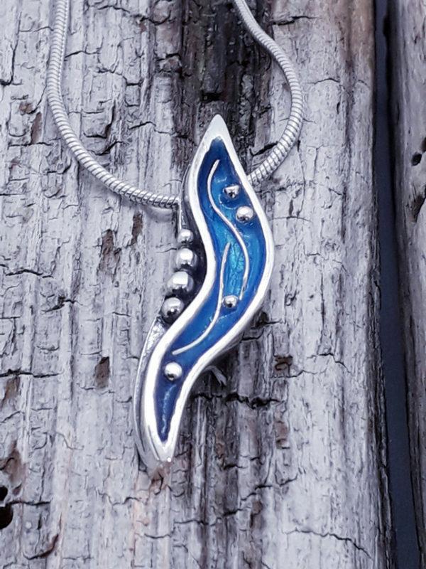 Mini Enamelled Seapod Pendant