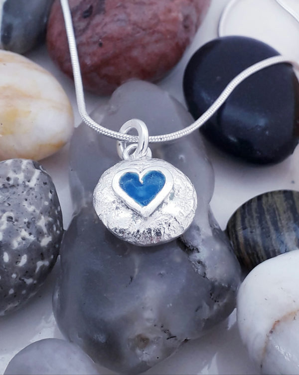 Mini Pebble Heart Pendant