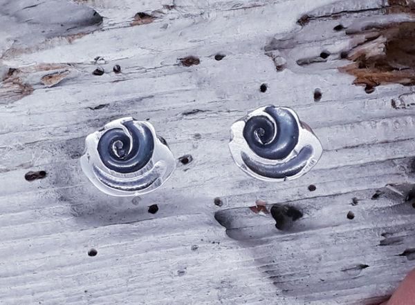 Shell Spiral Ear Studs