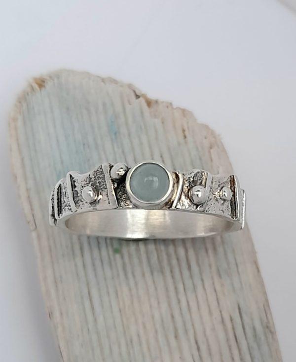 Limpet Ring with Aquamarine