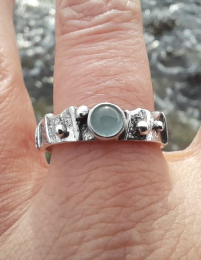 Limpet Ring Aquamarine Shell
