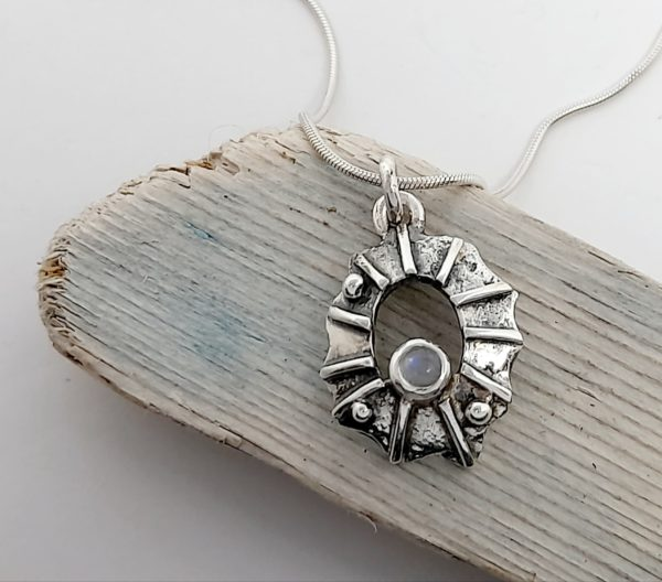 Limpet Shell Pendant with Moonstone