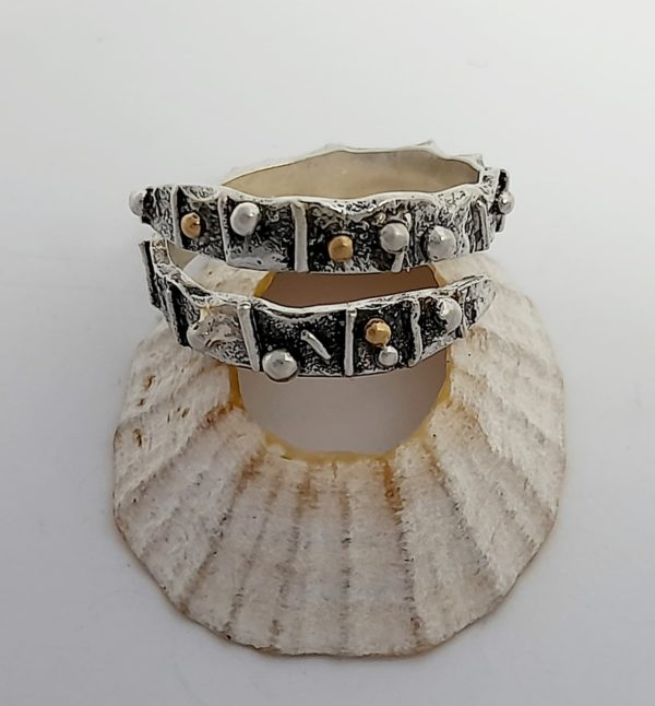 Limpet Wrap Ring with Gold Detail
