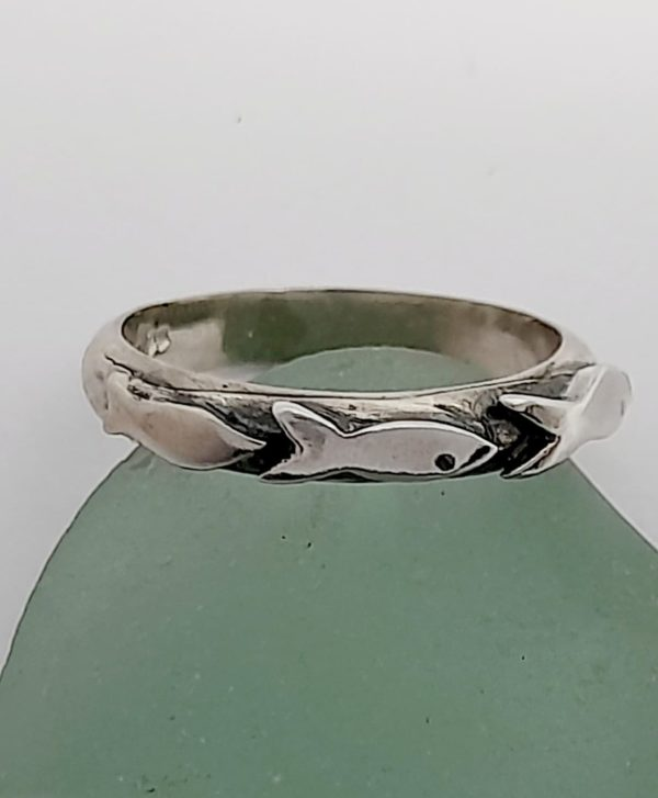 Silver Little Fishies Ring